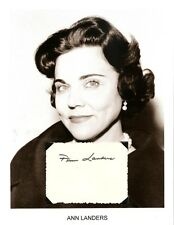 Ask Ann Landers Autograph Newspaper Columnist Chicago Times Esther Lederer #3