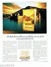 PUBLICITE ADVERTISING 116  1989  Benson & Hedges Gold passeport  au Rajasthan