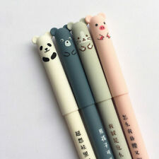4 Pcs/set Kawaii Pig Bear Cat Mouse Erasable Gel Pen School Office Supplies