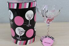 Lolita Love My Margarita Hand Painted Silk Stockings Glass 12 oz NEW with Box