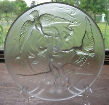 """Vintage Verlys Art Deco 13.5"""" crystal etched Bowl Signed"""