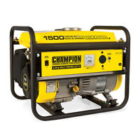Champion 1200 Watt Portable Quiet Recoil Start Gas Powered Home & RV Generator