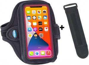 Tune Belt AB92 Cell Phone Running Armband for iPhone 11/12 Pro Black Plus