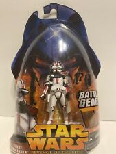 Star Wars Revenge Of The Sith Clone Commander With Battle Gear #33 Hasbro 2005