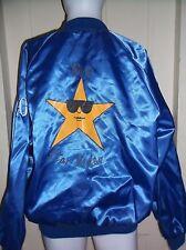 Vintage Cardinal Satin Bomber Jacket Big Star Video Softball Mens XXL Rockabilly