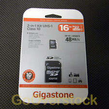 Micro SD HC Memory Card 16GB - Class 10 - Gigastone Mobile UHS-1  SDHC - NEW