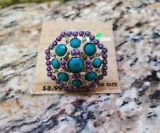 Fashion Ring Dream out Loud by Selena Gomez Teal & Purple One Size Fits All NEW