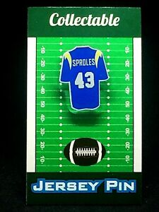 Los Angeles Charges Darren Sproles jersey lapel pin-Classic vintage Collectable