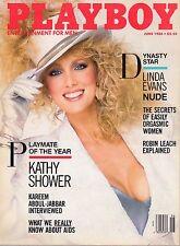 June 1986 Playboy Kathy Shower Linda Evans Kelly LeBrock Kareen Abdul Jabbar