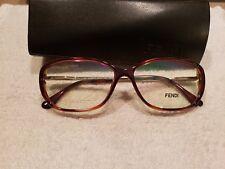 Fendi F969 238 Eyeglass frames Tortoise Gold 55 13 135  New
