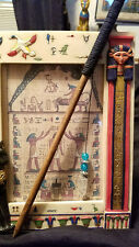 """☽✪☾ Wiccan Pagan Wooden Wand 12"""" with Built in Divination Pendulum Pine ☽✪☾"""