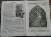 1844 COSMORAMA: VENDITORE DI MARRONI, CHIESA DI SAN VINCENZO DA PAOLA A PARIGI