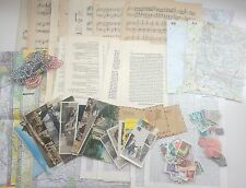 Vintage Paper Packs Music Sheets Postcards Maps Stamps Photos Book Pages Twine