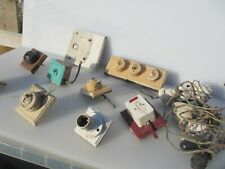 Vintage Bakelite & Ceramic Light Switch Board Art Deco Old Toggle Dolly Switches