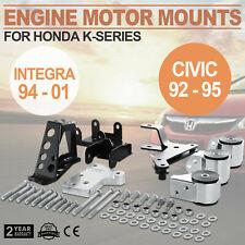 Motor Engine Mount Kit For Honda Civic 92-95 Reliable Advanced Swap Billet