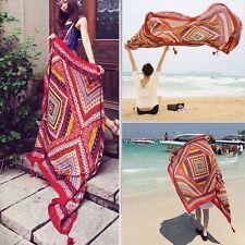 Vintage Women Soft Long Neck Large Scarf Wrap Shawl Pashmina Stole Scarves New