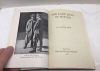 The Last Days of Hitler by H.R. Trevor-Roper 1947 1st Printing MacMillan VG Rare