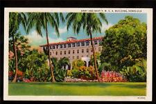 c1940 Army & Navy Y.M.C.A.building Honolulu Hawaii military postcard