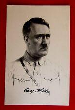 WW2 GERMAN POSTCARD - 'ADOLF HITLER with SIGNATURE'