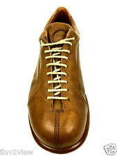 CAMPER LIGHT BROWN LEATHER CASUAL LACE UP SHOES TRAINER SIZE 41 EUR.