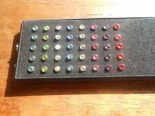 Micro Dermal Anchor Piercing vari colori ,impianto da corpo, surface 4mm, 1.2mm