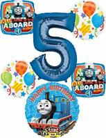 Thomas the Train Party Supplies 5th Birthday Sing A Tune Tank Engine Balloon ...