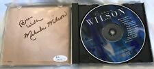 BRIAN WILSON S/T SIGNED CD by MELINDA WILSON + 2 BRIAN SIGNATURES JSA COA a GEM