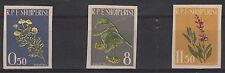 ALBANIA 1962 Serie Piante Medicinali 3 Val Yvert 573-5 Non Dentellata MNH**
