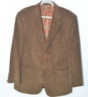Lauren Ralph Lauren • Blazer Sport Coat  2 Button Leather Corduroy • 42R VGUC