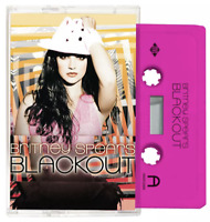 Britney Spears - Blackout Limited Edition Red/Pink Exclusive Cassette Tape