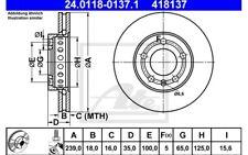 ATE Juego de 2 discos freno Antes 239mm ventilado para VW POLO 24.0118-0137.1