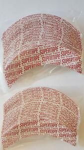 "Supertape 1"" curved strips ""CC"" shape pkg 72 pieces hairpiece wig toupee"