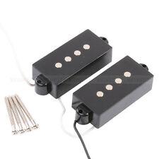 Black 4 String Noiseless Pickup Set For Precision P Bass Guitar