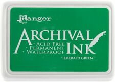 Ranger Archical Ink Permanent Waterproof Ink Pad - Emerald Green