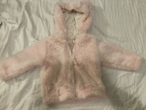 Baby Girls 6-9 Month Fluffy Jacket, Excellent Condition