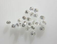Natural Loose Diamond F Color 20pc 1.7mm 0.40cts VS Clarity Brilliant Cut Genuin
