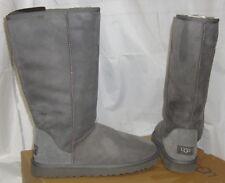UGG Australia CLASSIC TALL GRAY GREY Suede Sheepskin Boots US 10,EU 41 NEW #5815