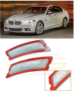 For 12-16 BMW F10 5-Series M-Sport | CRYSTAL CLEAR Side Marker Reflector Lights