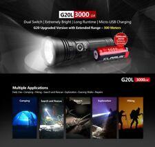 Klarus G20L LED Taschenlampe Flashlight 3000 Lumen Strobe SOS Akku Holster USB