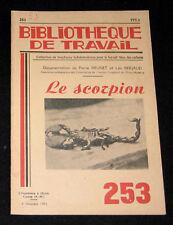 LE SCORPION - B. TRAVAIL n° 253-1953 - ARACHNIDE ARAIGNEE VENIN SERUM CHASSE