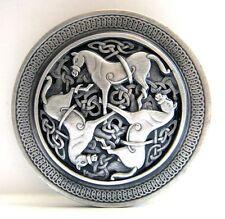 Buckle mit drei Pferden, keltisches Tribal, Kelten Knoten, Gürtelschnalle