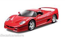 FERRARI F50 RED 1/32 DIECAST MODEL CAR BY BBURAGO 44025