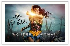 GAL GADOT WONDER WOMAN SIGNED AUTOGRAPH PHOTO PRINT