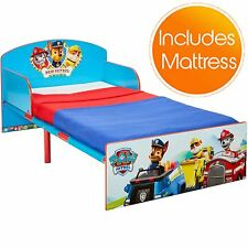 PAW PATROL TODDLER BED WITH PROTECTIVE SIDE GUARDS AND DELUXE FOAM MATTRESS