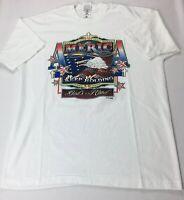 Fruit of Loom Vintage America Keep Holding To Gods Hand Single Stitch T Shirt XL