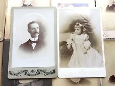 1870 -1900 LOT of 12 Cabinet Card Photos PHILLIPSBURGH New Jersey NJ Men Women