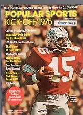 1975 POPULAR SPORTS KICK-OFF COLLEGE  FOOTBALL YEARBOOK-ARCHIE GRIFFIN-OHIO ST.