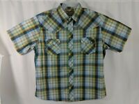 Men's Western Fashion Wrangler Pearl Snap Shirt SZ XXL Short Sleeve Multi Color