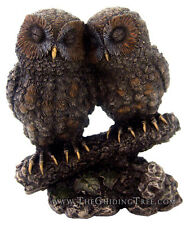 """Owl ~ A Cozy Pair of Barn Owls ~ 5.5"""" Tall Cold Cast Bronze ~ Wisdom & Knowledge"""