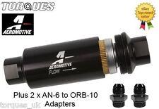 AEROMOTIVE AN-6 (-06AN JIC) 10 Micron Black Billet Aluminium Fuel Filter - 12321